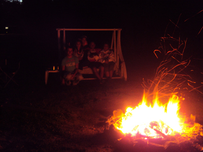 Campfire with family and friends