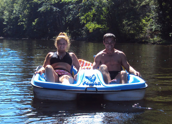 Relaxing paddle boat rides